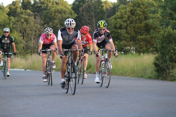 Terry Kelly leads the D grade bunch home