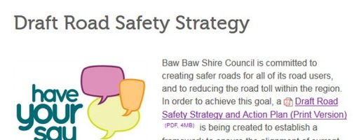 Have Your Say On Baw Baw's Road Safety Strategy